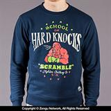 "Scramble ""Hard Knocks"" Navy Crewneck Sweater"